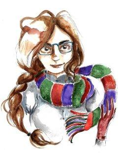Portrait d'Ophélie à l'aquarelle