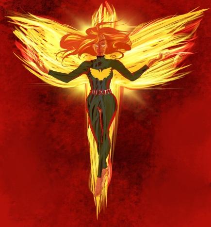 Jean Grey en mode Phœnix- je-pète-l-univers